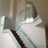Modern design interior glass railing SUS balustrade fittings with patch fitting Manufactures