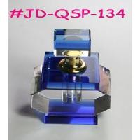 Blue Crystal Glass Perfume Bottle (JD-QSP-134) Manufactures