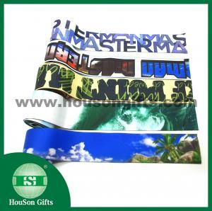 China wholesale Custom sublimated printed elastic waist band