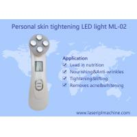 Mini Home Facial Beauty Device / 6 Color Ultrasonic Led Lights Photon Face Massager Manufactures