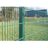 China PVC Welded Wire Mesh Fence Panels And Galvanized Garden Fence 3 D Curved on sale