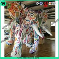 China Large Colorful Inflatable Elephant / Outdoor Advertising Balloon For Big Event on sale