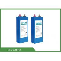 High Energy Density Lithium Iron Phosphate Battery Cells 3.2V-25AH 80WH Deep Cycle Manufactures