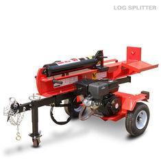 50T Woods Log Splitter , Vertical / Horizontal Fluid Pressure Firewood Splitter Machine
