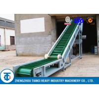 China Carbon Steel Large Angle Belt Conveyor with Corrugated Edge & Cross Section on sale
