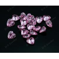 China Syntehtic pink colored cubic zirconia Gems Stone on sale for silver jewelry on sale