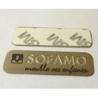 Stainless steel name plate with chemically etched letters, 3M adhesive sticker sign plates Manufactures