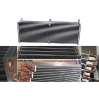 China Copper Tube Fin And Tube Heat Exchanger Air Conditioner Evaporator Support on sale