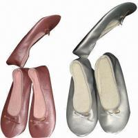 Indoor Ballet Shoes, Made of PU, with Foldable and Fashionable Manufactures