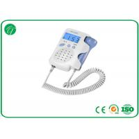 China White Pocket Fetal Doppler Machine With Crystal Clear Sound LCD Backlight on sale