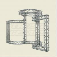 Silver Aluminum Stage Lighting Truss System For Event 2 TONS Loading Manufactures
