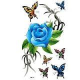 Custom Remove Simple Flower pictures colorful tattoo design for men Body skin Manufactures