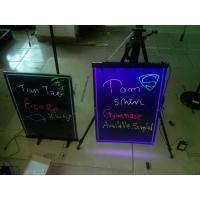 China 580x420mm hanging led writing board with engraved border on sale