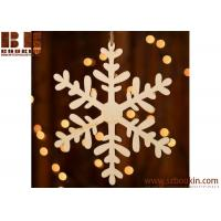Unfinished Wood Laser Cut Snowflake Ornament Christmas tree ornaments Holidays Gift Ornament Manufactures