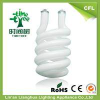High Lumen Half Spiral 14mm CFL Glass Tube , Triple Tube Compact Fluorescent Manufactures
