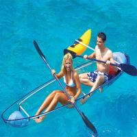 China Transparent Plastic Small Fishing Boats, Unbreakable Polycarbonate Clear Lover Kayaks for sale on sale