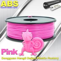 1767C Pink Plastic Filament For 3D Printing Consumables Filament Manufactures