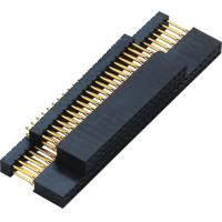 2.54mm Gold Flash PC 104 Connector 180° DIP  2.0AMP H=11.0 DIP=12.2 PPS black ROHS Manufactures