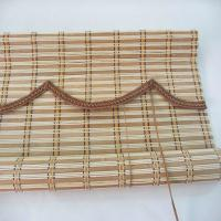 Popular Bamboo Roman Blinds , Bamboo Window Shades Weaving With Raffia Manufactures