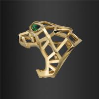 Panthere DE Paris Gold Jewelry Ring 18K pink gold with Tsavorite and Onyx N4722500 Manufactures