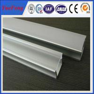 Aluminium snap profile, U shape aluminum profiles with PMMA cover Manufactures
