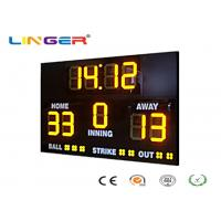 Buy cheap Athletic Digital Baseball Scoreboard , Baseball Electronic Scoreboard Outdoor Type from wholesalers