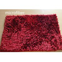 Microfiber Mat Red 40 * 60cm Big Chenille Bathroom Indoor Anti - skid Rubber Manufactures