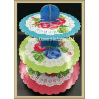 China Party tableware 3 tier printed  paper cupcake stand  baby shower party cake stand on sale