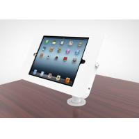 Adjustable Goose Neck Ipad Kiosk Stand Metal Desk Mounted Enclosure Powder Coated Finish Manufactures