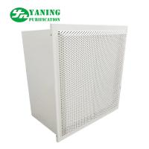 China Powder Coating Steel HFU Clean Room Fan Filter Units With Air Damper Hepa Box on sale