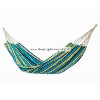 Comfortable Two Person Brazilian Double Hammock Camping Yellow Blue Green Stripe Manufactures