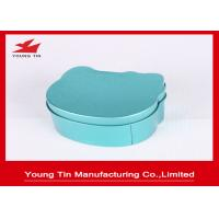 Irregular Children Tinplated Candy Gift Boxes Blue 75 * 68 * 40 MM With Cap Manufactures