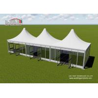 Aluminum Modular Pyramid Roof Top Garden Party Tents , Outdoor Marquee Party Tent Manufactures