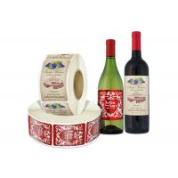 China Self Adhesive Wine Bottle Stickers in Roll , Wine Paper Label Sticker on sale