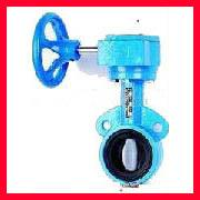 China Cast Iron Double Flanged Butterfly Valves For Chemical , Beverage on sale
