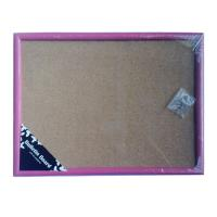 Hot colored cork memo board with wooden frame Manufactures