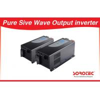 China Sine wave Output Solar Power Inverters visual alarm with Circuit breaker on sale