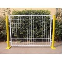 Quality Plastic Coated Temporary Welded Wire Mesh Fence Panels 50*100 MM Mesh Size for sale