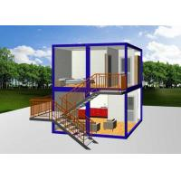 China Steel Door Custom Container House Glass Wall 36W Double Tube Lamp For Tourism on sale