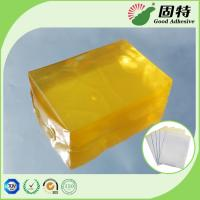 China Yellow transparent Block Strength Hot Glue , Medical Plaster Hot Melt Glue on sale