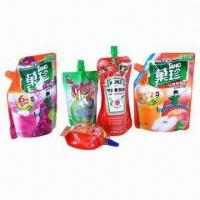 Spout Liquid Pouch with Laminated Material, Customized Sizes are Welcome Manufactures