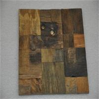 Decorative 3d Solid Wood Wall Paneling , Artificial Carved Wood Wall Panel Manufactures