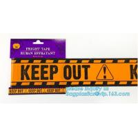 Caution tape halloween underground cable warning tape,Haunted Halloween Decorations Caution Warning Tape - Trick Or Trea
