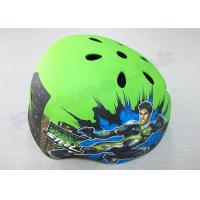 Quality Toddler / Youth / Kids Inline Skating Helmets 5 Air Vents , Green Mountain Biking Helmets for sale