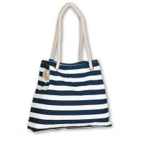 Standard Size Striped Beach Tote Bag , 100% Eco - Friendly Canvas Beach Tote Manufactures