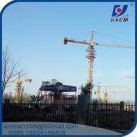 8t Topkit Head Tower Cranes TC5015 50M Working Arm Boom For 80m Buildings Manufactures