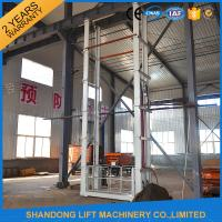 1.5 tons 5 m Hydraulic Outside Guide Rail Vertical Cargo Lift for Building Warehouse Manufactures