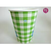 12oz Soda Drink Cold Paper Cups With Lid ,  Fully Eco Friendly Single Wall Paper Cup Manufactures