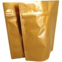 Aluminium Foil Valved Coffee Bags Heat Seal / Zipper Pouch Laminated Manufactures