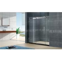 1400x2000MM Big Roller Glass Shower Screen 8MM Two Fixed For Apartment Manufactures